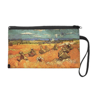 wheat Stacks with Reaper by Vincent van Gogh Wristlet