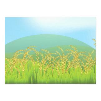 Wheat Stalks on Green Hill Custom Announcement