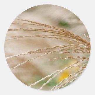 Wheat Round Sticker
