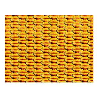 Wheat texture postcard