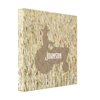 Wheat & Tractor Canvas Art