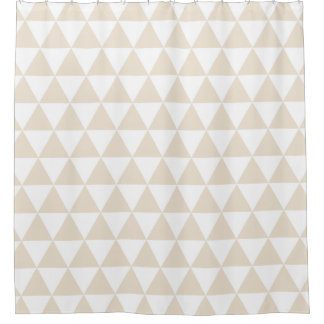 Wheat Trendy Triangles Shower Curtains Shower Curtain