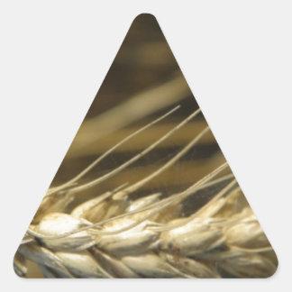 wheatear pegatina triangular