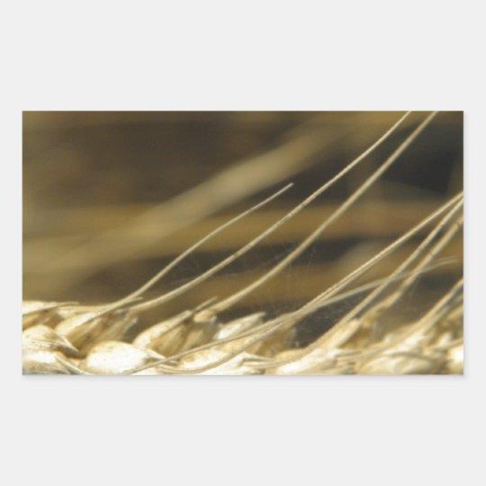 wheatear rectangular sticker