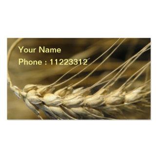 wheatear tarjetas de visita