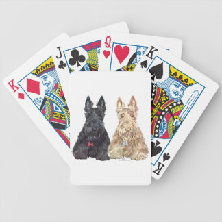 Wheaten and Black Scottie Dogs Bicycle Playing Cards