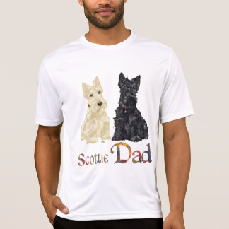 Wheaten and Black Scotties Celebrate Father's Day T-Shirt