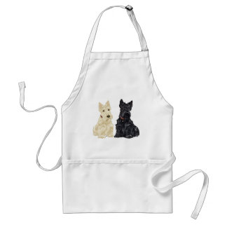 Wheaten and Black Scottish Terriers Adult Apron