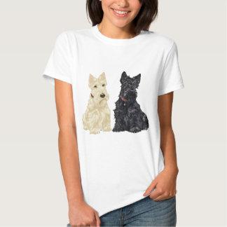 Wheaten and Black Scottish Terriers T-Shirt