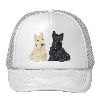 Wheaten and Black Scottish Terriers Trucker Hat