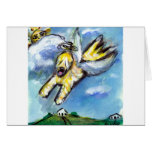 Wheaten angel flys free greeting cards