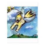 Wheaten angel flys free post cards