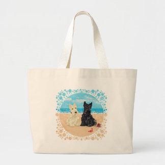 Wheaten & Black Scotties at the Beach Bags