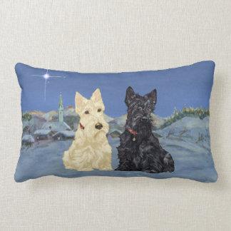 Wheaten Black Scotties Christmas Pillows