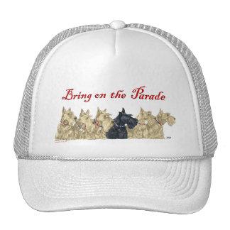 Wheaten & Black Scotties Line Trucker Hat