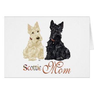 Wheaten & Black Scotties Mother's Day Card