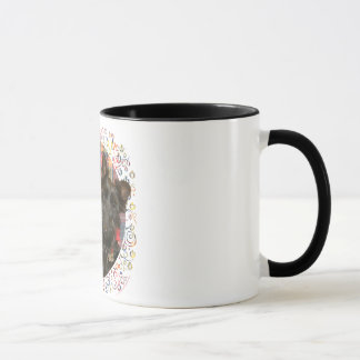 Wheaten & Black Scotties on Tartan Mug