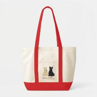 Wheaten & Black Scottish Terrier for Mother's Day Tote Bag