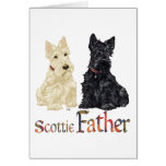 Wheaten & Black Scottish Terriers Father Greeting Cards