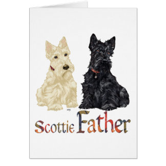 Wheaten & Black Scottish Terriers Father Card
