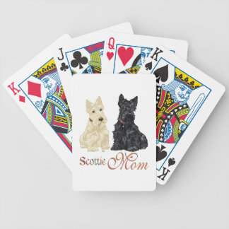 Wheaten & Black Scottish Terriers Mom Bicycle Playing Cards