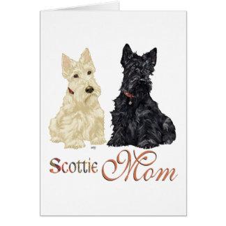 Wheaten & Black Scottish Terriers Mom Card