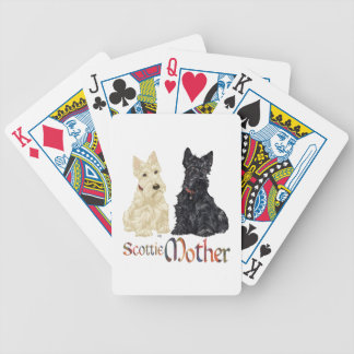 Wheaten & Black Scottish Terriers Mother Bicycle Playing Cards