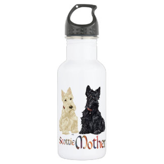 Wheaten & Black Scottish Terriers Mother 18oz Water Bottle