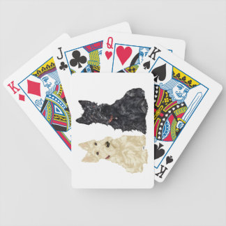 Wheaten & Black Scottish Terriers Poker Cards