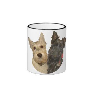 Wheaten & Black Scottish Terriers Ringer Mug