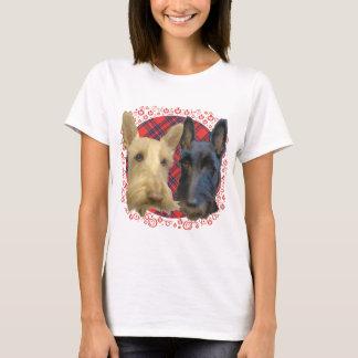 Wheaten & Black Scottish Terriers T-Shirt