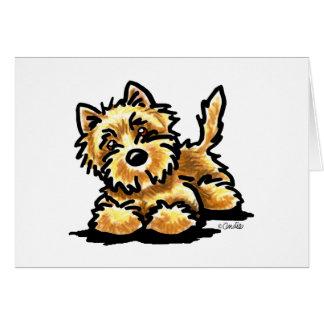 Wheaten Cairn Terrier Art Card