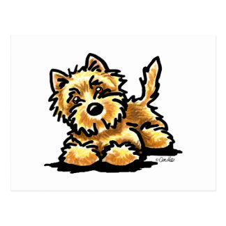 Wheaten Cairn Terrier Art Postcard
