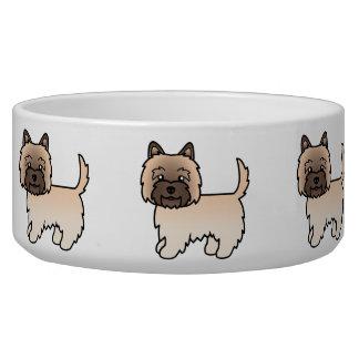 Wheaten Cairn Terrier Cartoon Dog Bowl