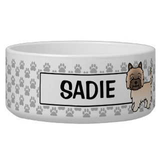 Wheaten Cairn Terrier Cartoon Dog Bowl