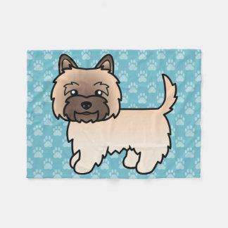 Wheaten Cairn Terrier Cartoon Dog Fleece Blanket