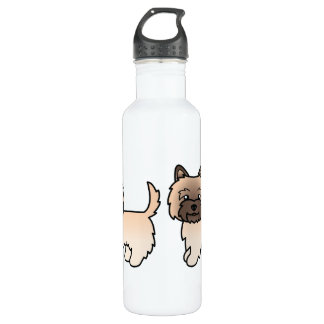 Wheaten Cairn Terrier Cartoon Dog Stainless Steel Water Bottle