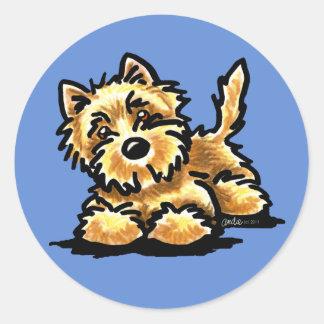 Wheaten Cairn Terrier Classic Round Sticker