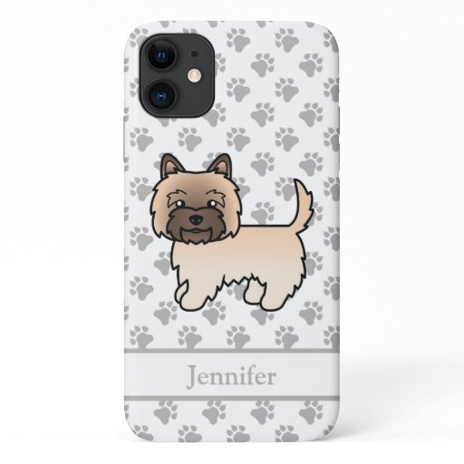 Wheaten Cairn Terrier Cute Cartoon Dog & Name iPhone 11 Case