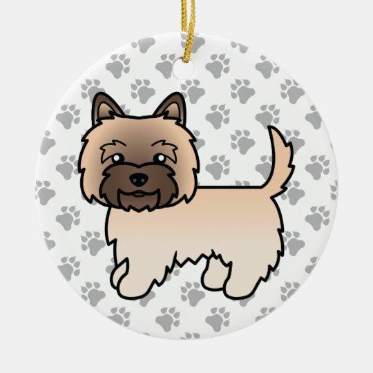 Cairn Terrier Ornament Black//Brindle