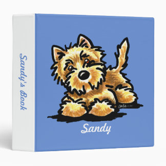 Wheaten Cairn Terrier Personalized Memory Album Binder