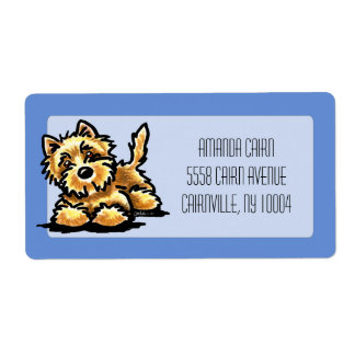Wheaten Cairn Terrier Studio Grande Periwinkle Label