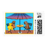 Wheaten Chat Postage Stamps