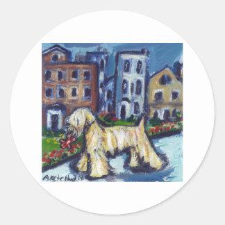 wheaten City Dog Classic Round Sticker