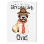 Wheaten Dad Greeting Card