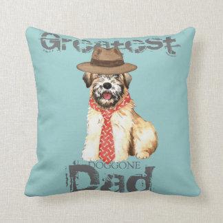 Wheaten Dad Throw Pillow