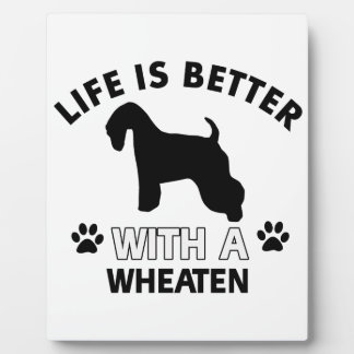 Wheaten dog breed designs plaques