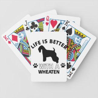 Wheaten dog breed designs bicycle poker deck