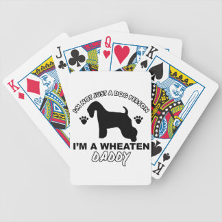 WHEATEN dog daddy designs Bicycle Poker Cards