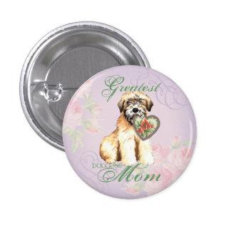 Wheaten Heart Mom Pinback Button